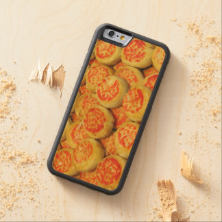 Kanom Pia ขนมเปี๊ยะ ~ Asian Sweets Desserts Food Carved Maple iPhone 6 Bumper Case