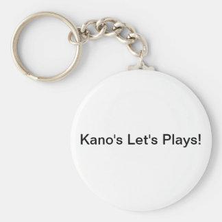 Kano's Let's Plays Key-Chain Basic Round Button Keychain