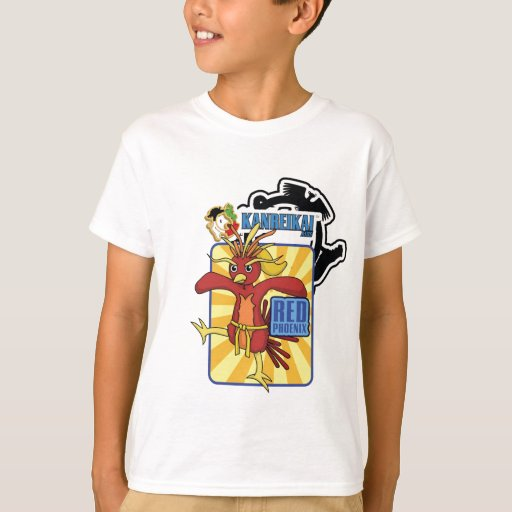 Kanreikai Kids Red Phoenix T-Shirt