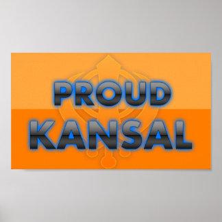 Kansal orgulloso orgullo de Kansal Posters
