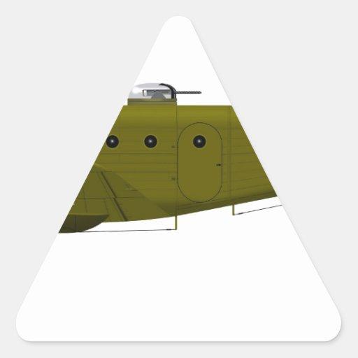 Kansan de la haya AT-11 Pegatina Triangular