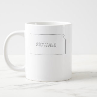 Kansas 127.0.0.1 Home Computer Nerd IP Address Giant Coffee Mug