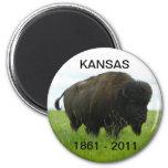 Kansas 1861 - 2011 magnets