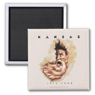 KANSAS - 1974 Tour 2 Inch Square Magnet