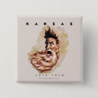 KANSAS - 1974 Tour Button