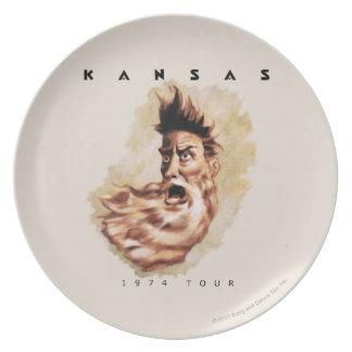 KANSAS - 1974 Tour Melamine Plate