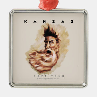 KANSAS - 1974 Tour Metal Ornament
