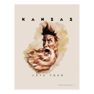 KANSAS - 1974 Tour Post Card