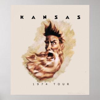KANSAS - 1974 Tour Poster