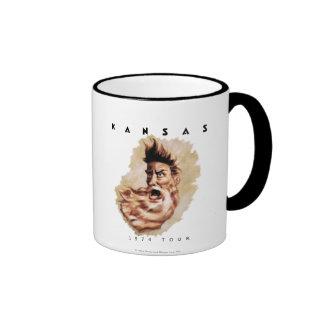 KANSAS - 1974 Tour Ringer Mug