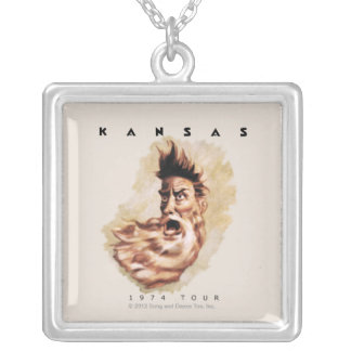 KANSAS - 1974 Tour Silver Plated Necklace