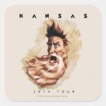 KANSAS - 1974 Tour Square Sticker