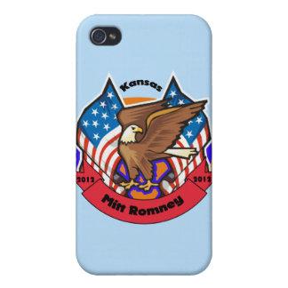 Kansas 2012 para Mitt Romney iPhone 4/4S Carcasa
