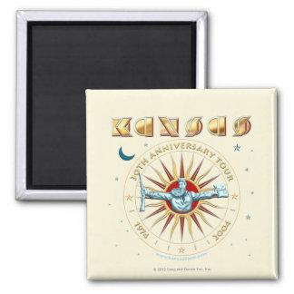 KANSAS - 30th Anniversary 2 Inch Square Magnet