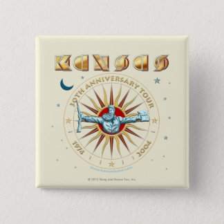 KANSAS - 30th Anniversary Pinback Button
