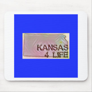 """Kansas 4 Life"" State Map Pride Design Mouse Pad"