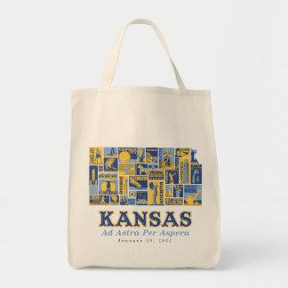Kansas - Ad Astra Per Aspera - Grocery Bag