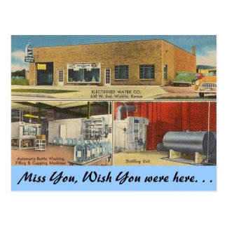 Kansas, agua electrificada Co., Wichita Postales