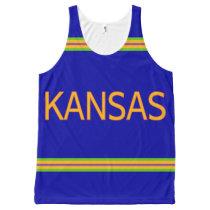 Kansas All-Over Printed Unisex Tank