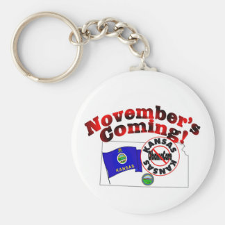 Kansas Anti ObamaCare – November's Coming! Keychain