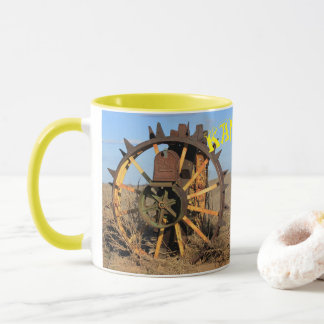 Kansas Antique Tractor Tire Mail Box Coffee Mug