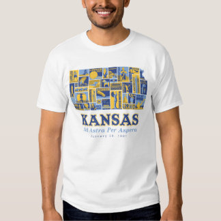 Kansas - anuncio Astra por Aspera - camiseta Playera