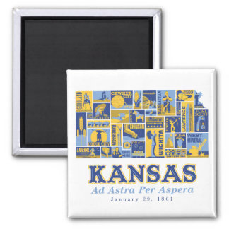Kansas - anuncio Astra por Aspera - imán cuadrado