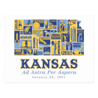 Kansas - anuncio Astra por Aspera - postal