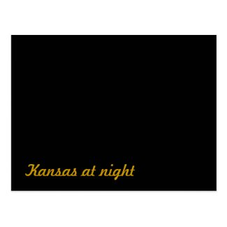 Kansas at night postcard