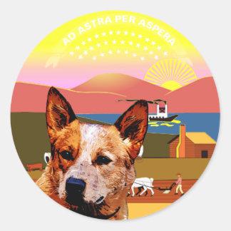 Kansas Australian Cattle Dog Classic Round Sticker