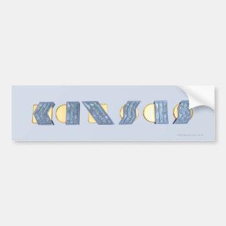 KANSAS (azul y oro) Etiqueta De Parachoque