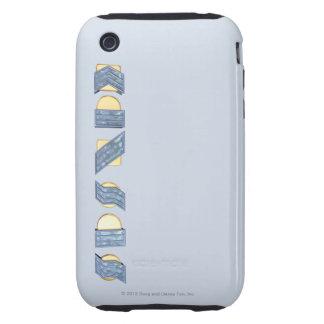 KANSAS (azul y oro) iPhone 3 Tough Funda