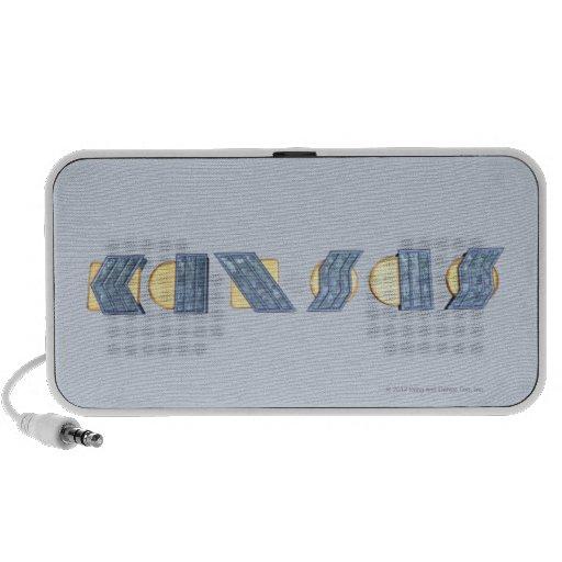 KANSAS (azul y oro) Notebook Altavoces