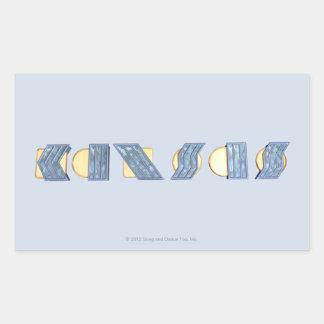 KANSAS (azul y oro) Pegatina Rectangular