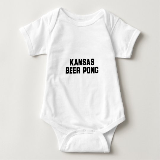 Kansas Beer Pong Baby Bodysuit