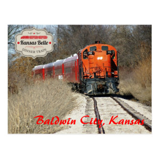 Kansas Belle - Engine 142 Postcard