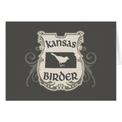 Greeting Card with Kansas Birder design