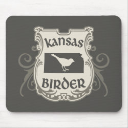 Mousepad with Kansas Birder design