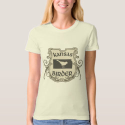 Women's American Apparel Organic T-Shirt with Kansas Birder design