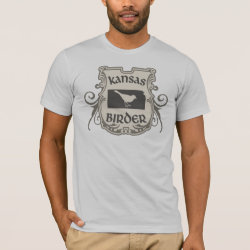 Men's Basic American Apparel T-Shirt with Kansas Birder design