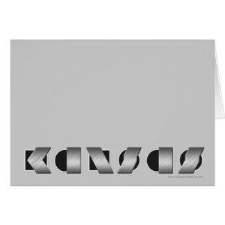KANSAS Black and White Greeting Cards