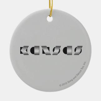 KANSAS Black and White Ceramic Ornament