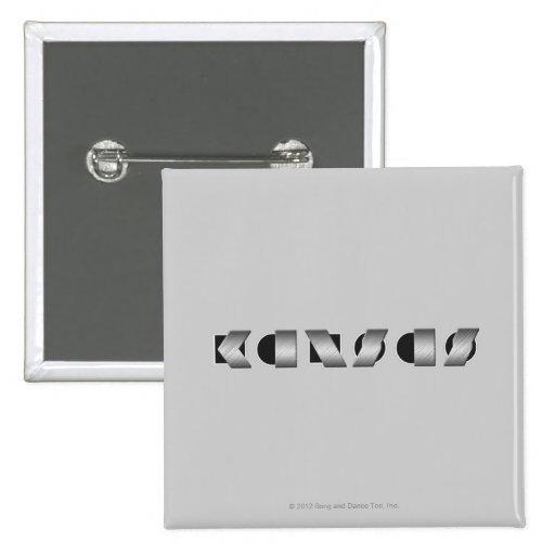 KANSAS (Black and White) Pins
