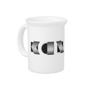 KANSAS Black and White Beverage Pitcher