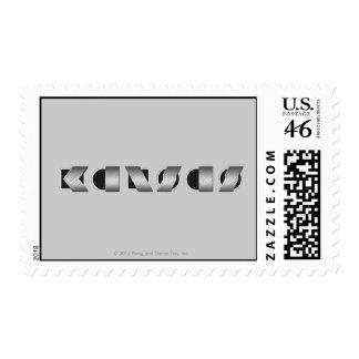 KANSAS Black and White Stamp