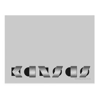KANSAS (Black and White) Postcard
