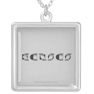 KANSAS (Black and White) Silver Plated Necklace