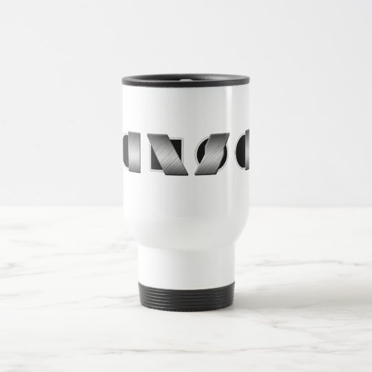 KANSAS (Black and White) Travel Mug