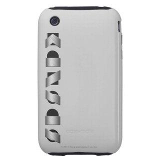 KANSAS blanco y negro iPhone 3 Tough Carcasas