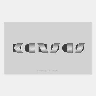 KANSAS (blanco y negro) Pegatina Rectangular
